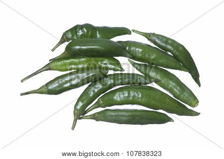 Spicy Green Chili Peppers