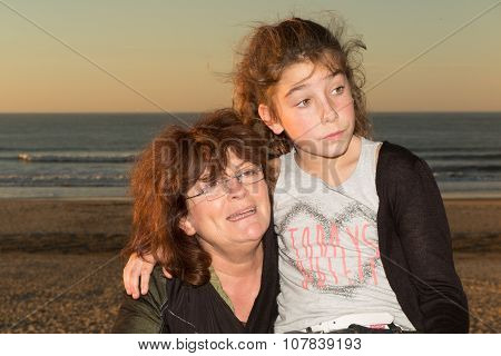 Grand Mother And Her Grand Daughter
