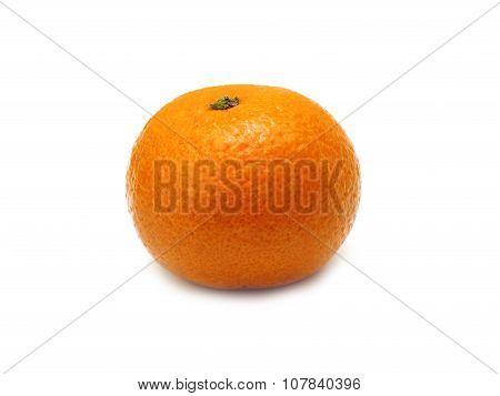 Ripe Tangerines Or Mandarin  Isolated On White Background