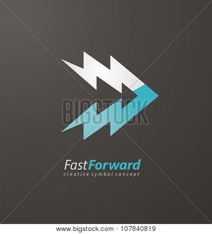Creative logo design for media or technology business