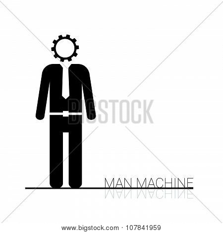 Man Machine Icon Vector