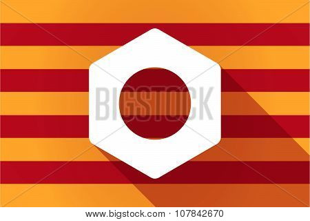 Long Shadow Catalonia Vector Flag With A Nut
