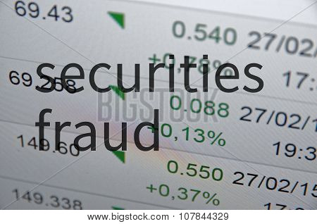 Securities fraud