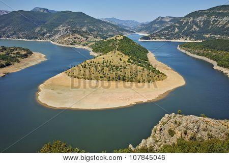 Amazing landscape of Arda River and Kardzhali Reservoir