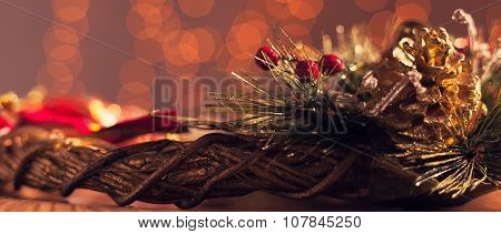 Christmas Decoration With Holiday Lights - Letterbox