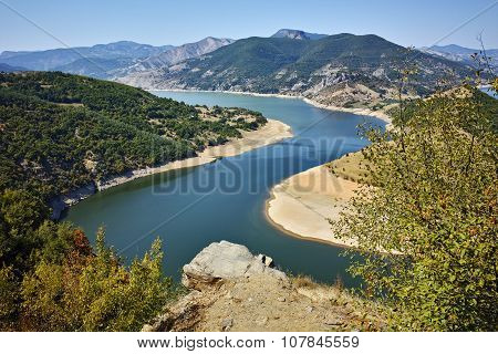 Landscape of Arda River and Kardzhali Reservoir