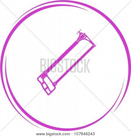 hacksaw. Internet button. Vector icon.