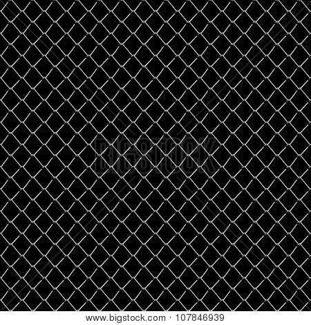 Seamless Mesh Netting On Black Background.