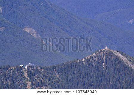 Buildings on a ridge