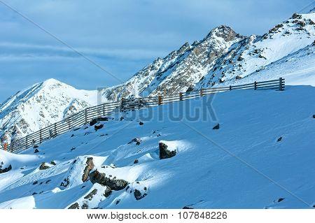 Morning Winter Mountain View (austria).