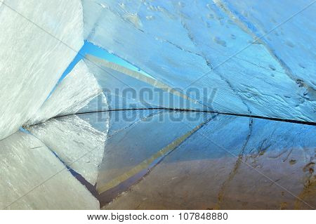 Ice Kaleidoscope. The Abstract Background Of Ice Structure.