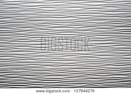 White Textured Waved Wall