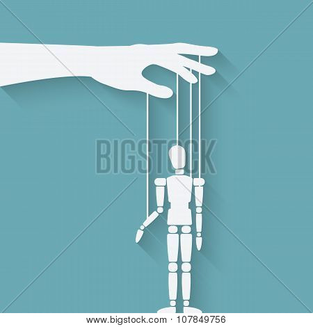 hand with puppet