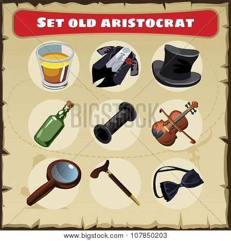 Set old aristocrat, nine things of a great men