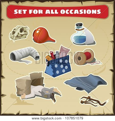 Set for all occasions, medical items