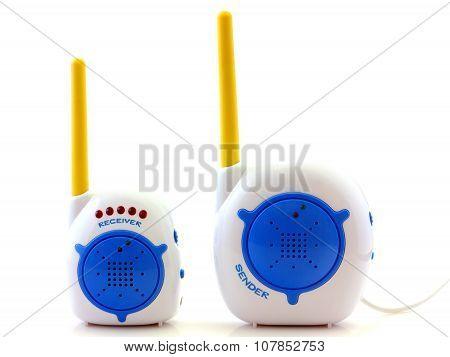 Babyphone isolated on white closeup