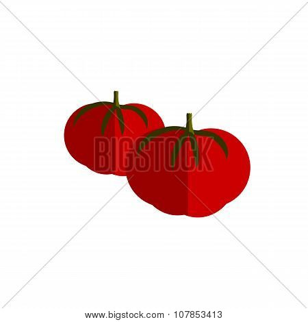 Tomato Color Vector Flat Icon Vegetable