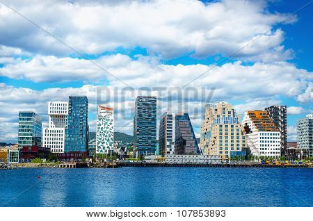 Skyline of Oslo in Norway, Scandinavia