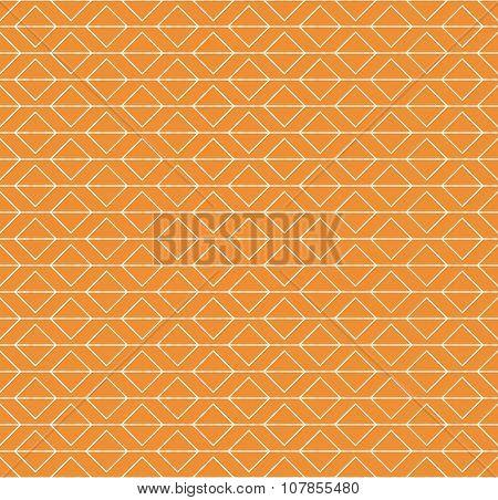 Orange Geometric Seamless Pattern