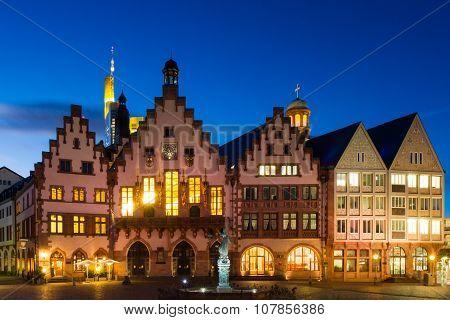Town Hall Of Frankfurt At Twilight