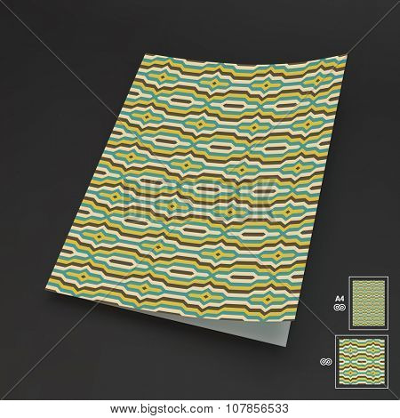 Notebook Cover Template. Vector Illustration.