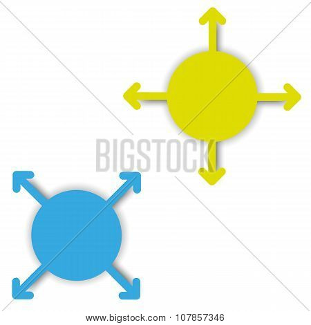 empty color arrow tags with place vector