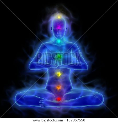 Aura - energy body - healing energy in meditation