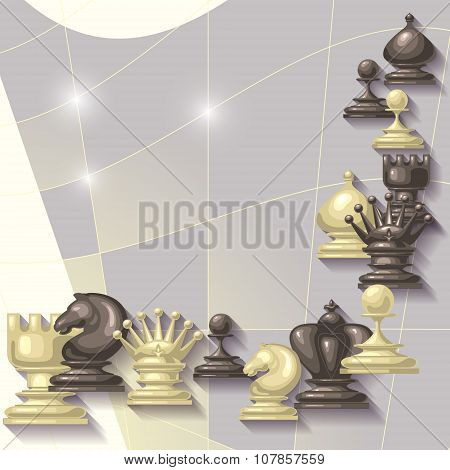 Vector  abstract  background with  place for your text. Chess Fi