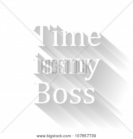 time is my boss vector