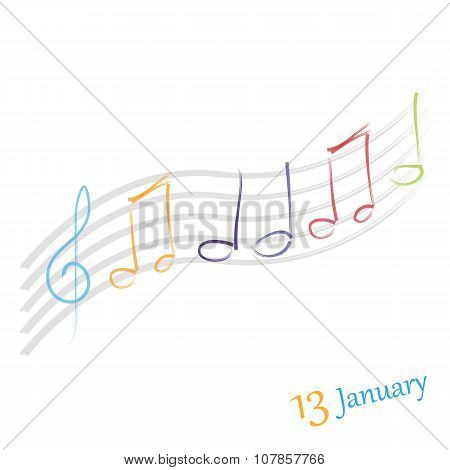 thirteen january celebration vector graphic