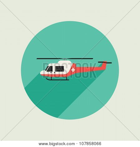 Ambulance vector helicopter
