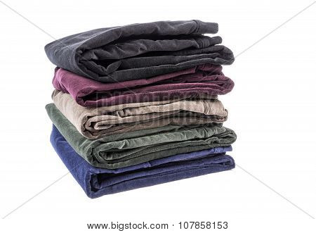 Velvet Pants of Assorted Colors Isolated on White