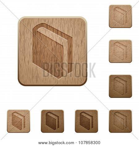 Book Wooden Buttons