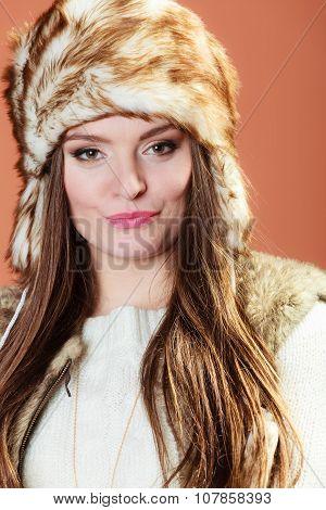 Girl In Fur Cap