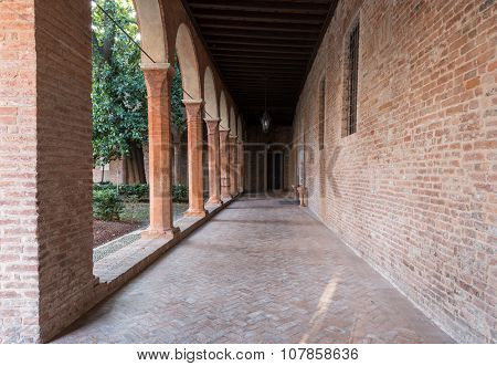 Interior Cloister Of A Little Curch In Italy