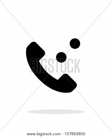 Phone call simple icon on white background.