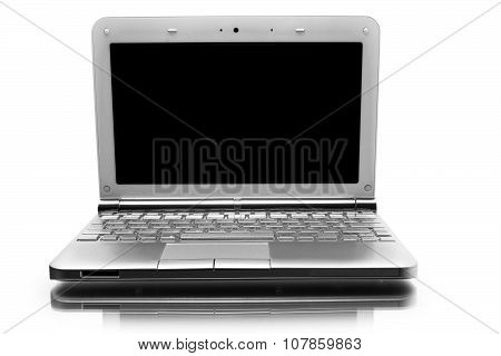 Netbook With Black Monitor