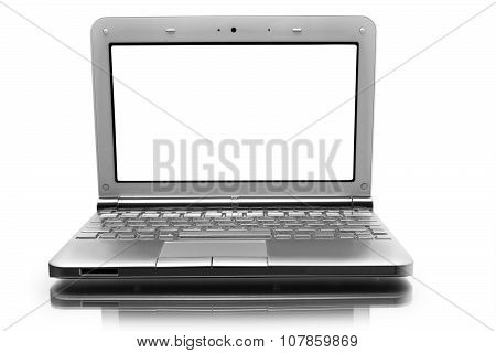 Netbook With White Monitor