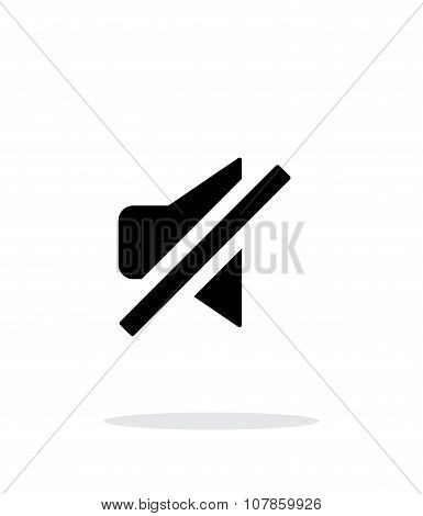 Turn off sound simple icon on white background.