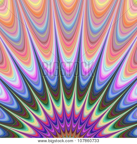 Abstract colorful fractal sunrise design background