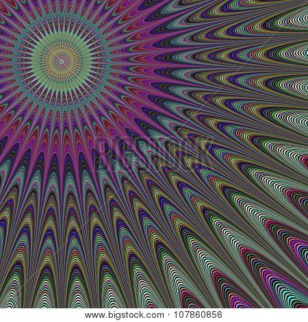 Multicolor sun fractal design background