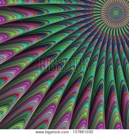 Colorful abstract fractal design background