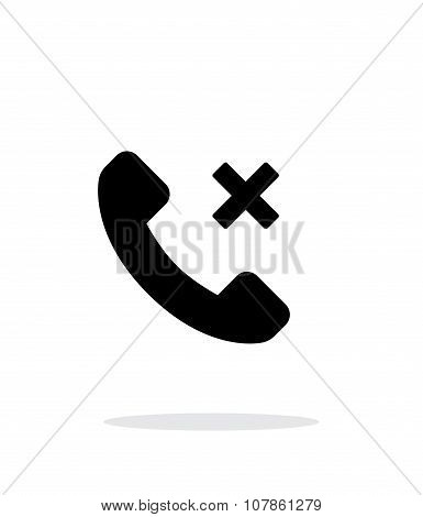 Phone call cancel simple icon on white background.