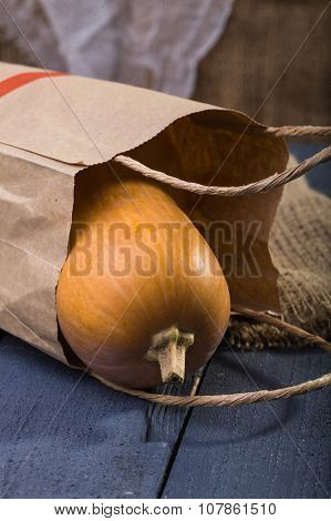 Orange Gourd In Paper Packet