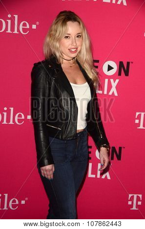 LOS ANGELES - NOV 10:  Skyler Shaye at the T-Mobile Un-carrier X Launch Celebration at the Shrine Auditorium on November 10, 2015 in Los Angeles, CA