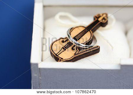 Wooden Violin In Box