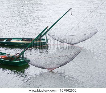 Boats With Fishing Nets