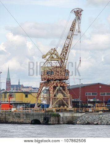 Giraffe Crane In Stockholm
