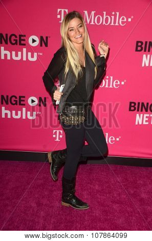 LOS ANGELES - NOV 10:  Justine Ezarik at the T-Mobile Un-carrier X Launch Celebration at the Shrine Auditorium on November 10, 2015 in Los Angeles, CA