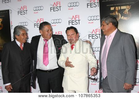 LOS ANGELES - NOV 9:  Mario Gomez, Luis Urzua, Edison Pena, Juan Carlos Aguilar at the AFI Fest 2015 -